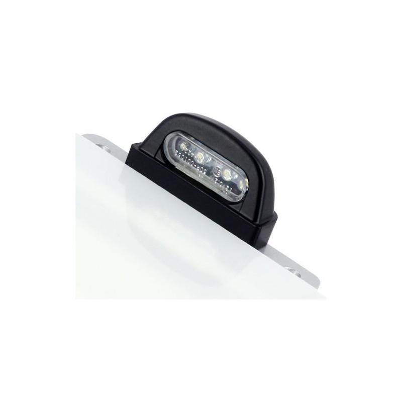 Eclairage de Plaque LED Noir Entraxe 45mm / 4 LEDS Acier
