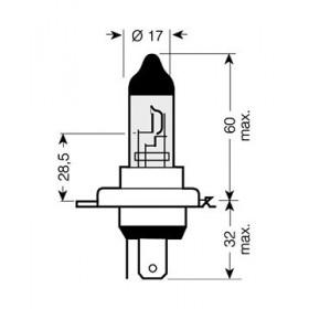 Ampoule H4 - 12V 60/55W P43t