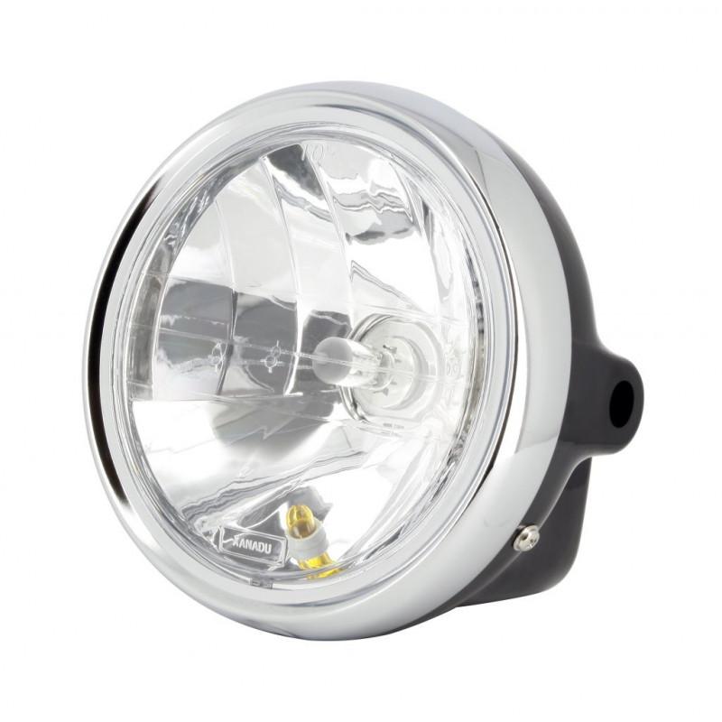 Phare Rond Universel Noir Optique O170mm - Ampoule H4 35w