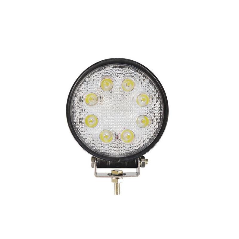 Projecteur Rond 8 LED Quad 24W 1800 Lum, Epistar Leds,CE Rohs Dim optique : O110 x 45mm