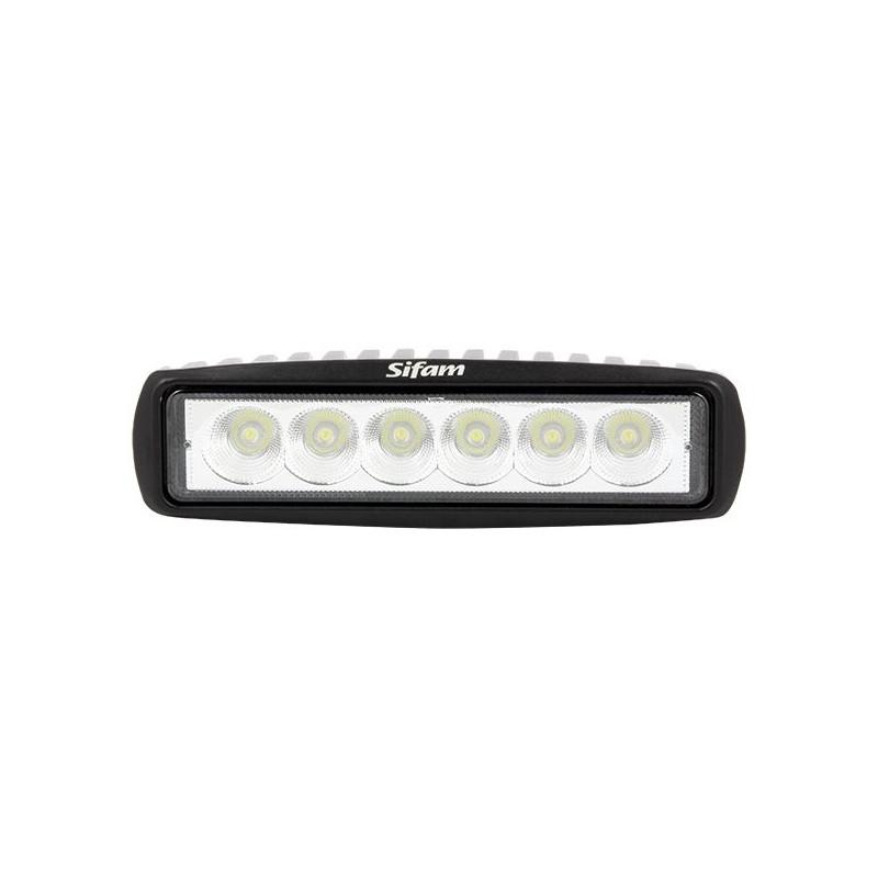 Projecteur Rectangulaire 6 LED 18W-1000 Lum, Epistar LED Dim: 155x45x51 mm