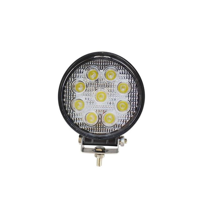 Projecteur Rond 9 LED 27W 1700 Lum, Epistar LED, CE ROHS Dim: O 114 x 57mm