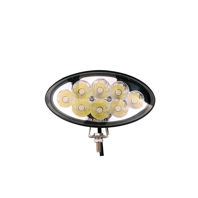 Projecteur Ovale 8 LED 24W 1600 Lum, Epistar LED, CE ROHS Dim: 154,2x80x85 mm
