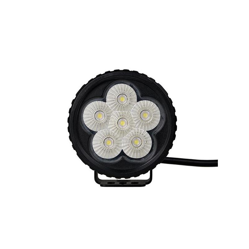 Projecteur Rond 6 LED 18W 1200 Lum, Epistar LED, CE ROHS Dim: O89.9 x 60mm