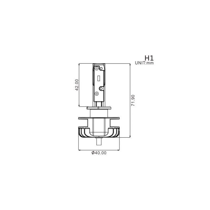 Ampoule H1 LED + Ballast - 16W/2200 Lumens Code