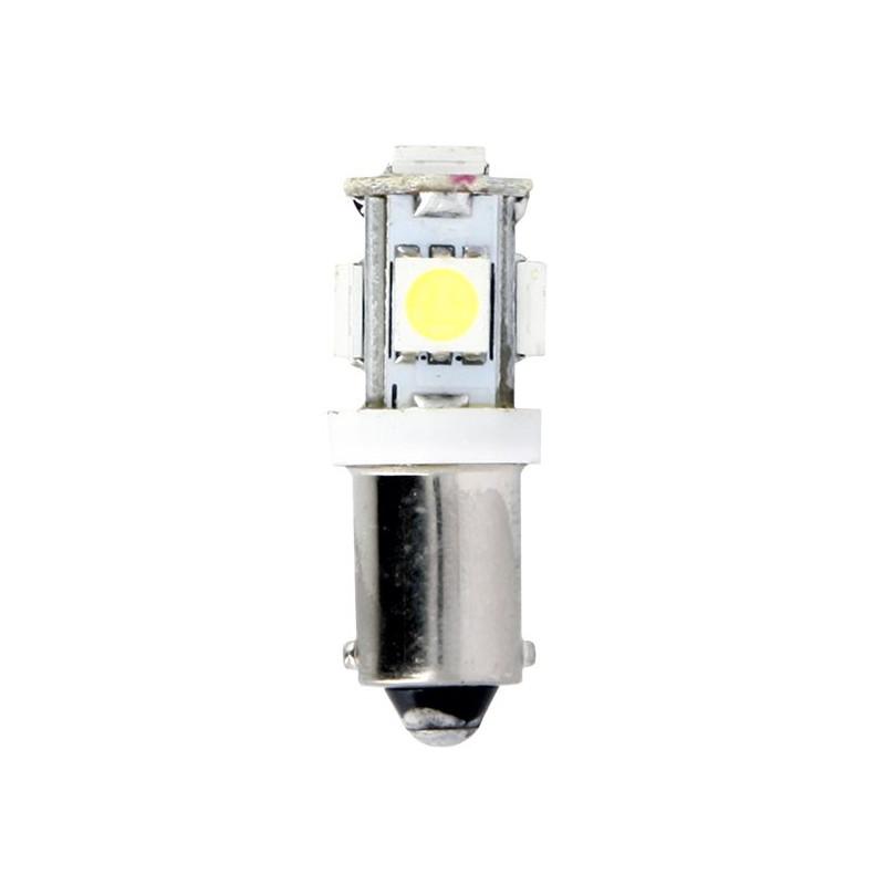 Ampoules Temoins T8.5/T10 - 5 Leds Culot BA9S - 5050 SMD Blister de 2 Ampoules