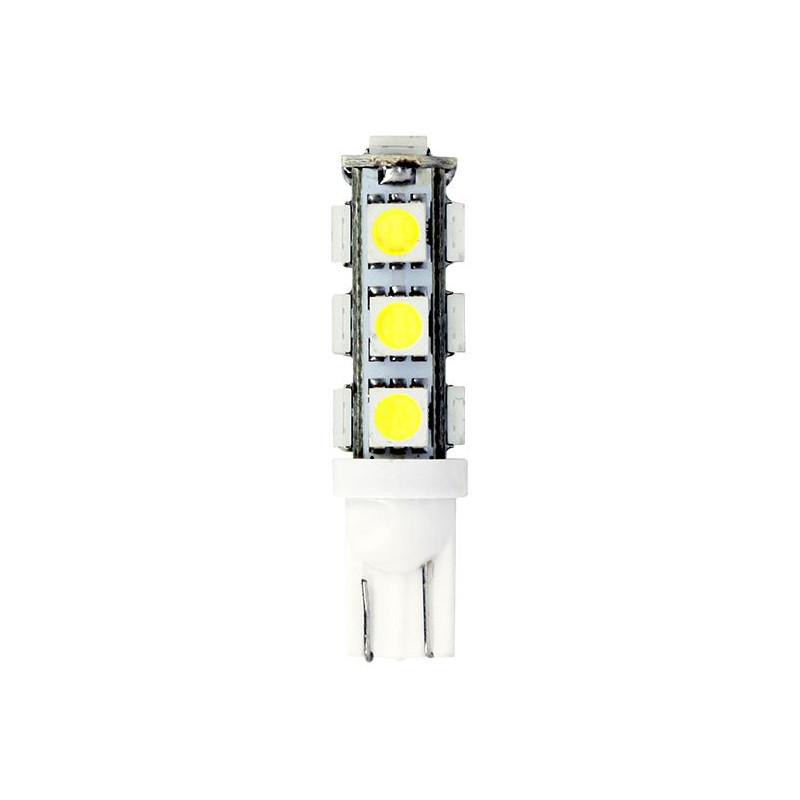 Ampoules Wedge Base T10 - 13 LED - 12V 10W W2.1 x9.5D - SMD 5050 - Blister de 2 Ampoules