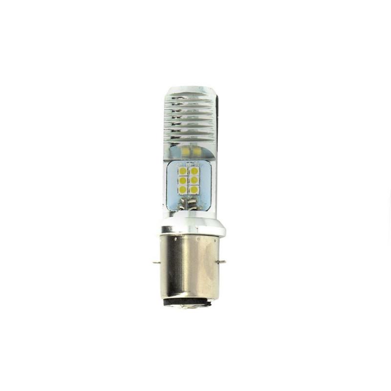 Ampoules de Projecteur 4 LED 1.5W 12V - BA20D SMD 5050 - Blister de 2 Ampoules