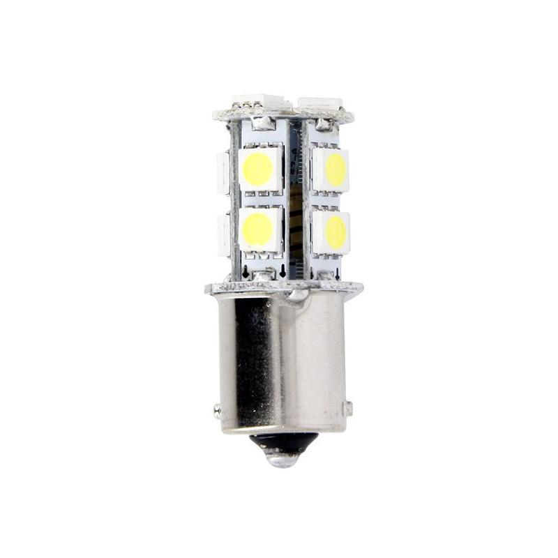 Ampoules de Projecteur 13 LED 3.3W Blanc 12V - BA15S SMD 5050 - Blister de 2 Ampoules